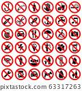 Set of prohibited sign 63317263
