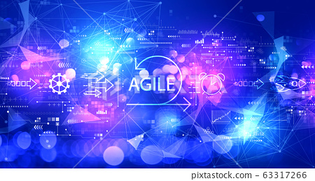 Agile concept with technology light background 63317266