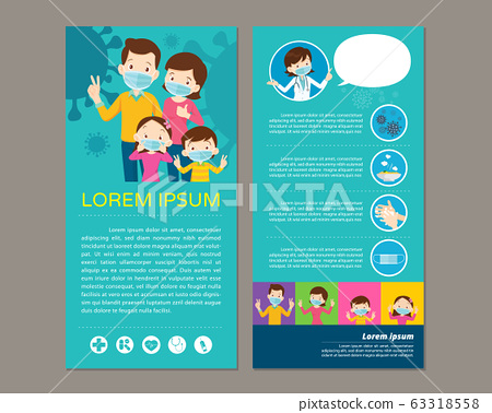doctor present wear a medical face mask template 63318558