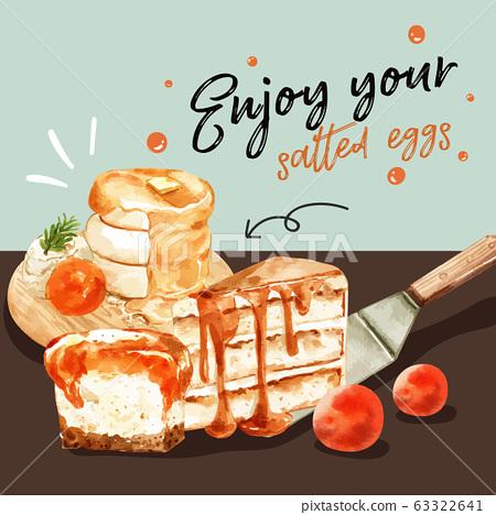Salted egg social media design with pancake 63322641