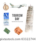 Set of tourism collection design isolated 63322744