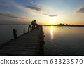 Sunset at U-Ben bridge of Mandalay, Myanmar (Burma). 63323570