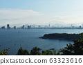 Da Nang city from high viewpoint, Vietnamese beach destination. 63323616