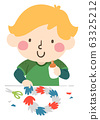Kid Boy Hand Wreath Illustration 63325212