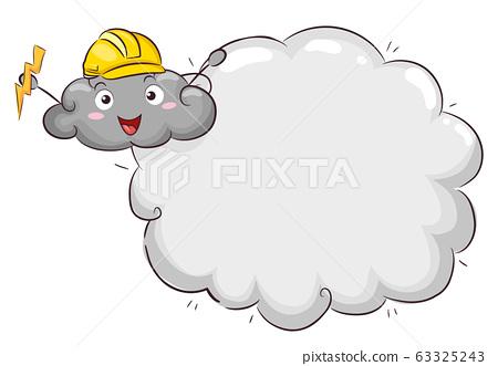 Mascot Thunder Cloud Lightning Safety Illustration 63325243
