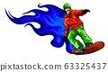 Snowboarder crow on fire vector illustation design 63325437