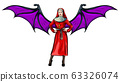 vector illustration of a sexy nun with wing 63326074