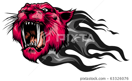 Mascot Vector Image of a Tiger Head with Whiskers 63326076