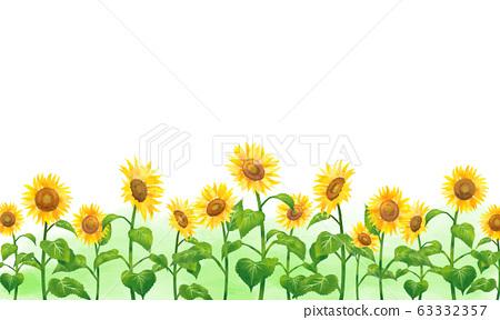 手繪水彩向日葵05 63332357
