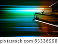 abstract green blur music background with grand 63336998