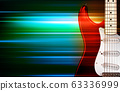 abstract green blur music background with electric 63336999