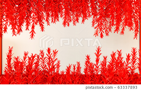 Lush lava color mock up abstract background. 3D 63337893