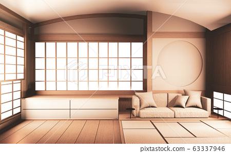 Interior Mock Up Japan Room Design Japanese Style Stock Illustration 63337946 Pixta