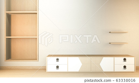 TV cabinet and display japanese interior of living 63338016