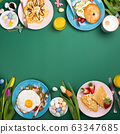 Easter breakfast flat lay 63347685
