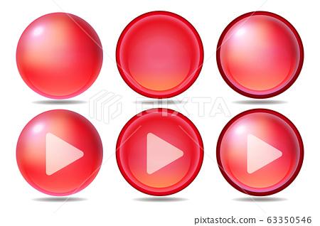 紅色圖標按鈕播放集 63350546
