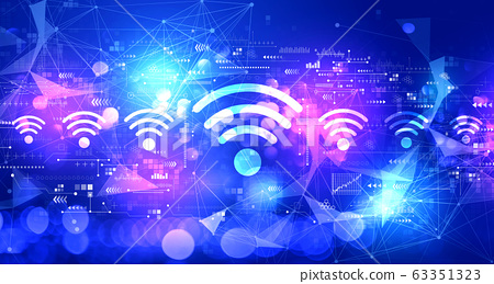 Wifi theme with technology light background 63351323