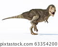 T-rex dinosaur with feathers. 3d rendering. 63354200