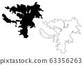 Noumea City (New Caledonia, France) map vector 63356263