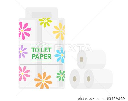 衛生紙的插圖 63359869