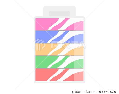 Illustration of box tissue 63359870
