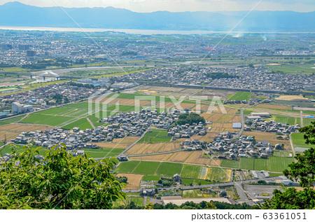 시가현의 三上山에서보기 63361051