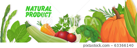 fresh vegetables and herbs composition healthy vegetarian nutrition natural product concept horizontal 63366140