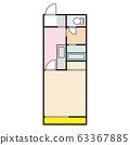 平面图住宅公寓公寓形象 63367885