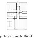 平面图住宅公寓公寓形象 63367887