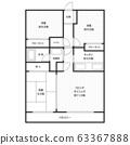 平面图住宅公寓公寓形象 63367888
