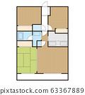 平面图住宅公寓公寓形象 63367889