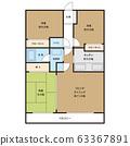平面图住宅公寓公寓形象 63367891