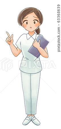 곤란 얼굴의 간호사의 일러스트 2 63368639