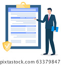 Businessman Presenting Clipboard with Contract 63379847