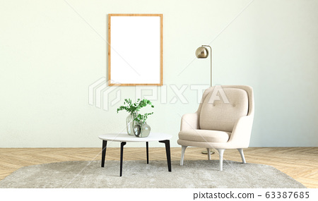 Interior of living room  63387685