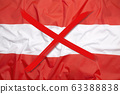 Crossed out flag of Austria, curfew concept 63388838