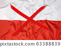 Crossed out flag of Poland, curfew concept 63388839