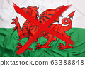 Crossed out flag of Wales, curfew concept 63388848