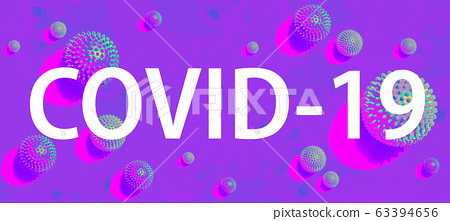 COVID-19 theme with viral objects 63394656