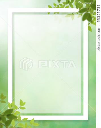 배경 - 자연 - 잎 - 그린 - 프레임 - 봄 - 초여름 - 여름 63395731