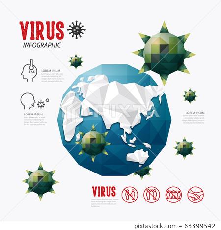corona covid 19 virus Infographic geometric design 63399542