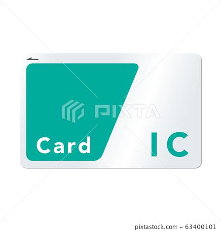 교통계 IC 카드의 벡터 일러스트 녹색 63400101