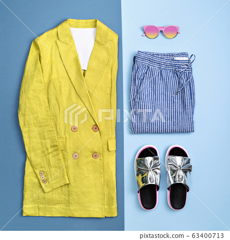 Stylish summer casual outfit. 63400713
