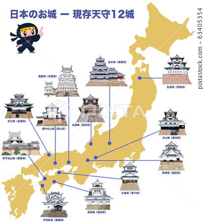 日本城堡:12個城堡塔樓和忍者角色 63405354