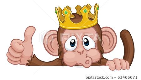 Monkey King Crown Cartoon Animal Thumbs Up Sign Stock Illustration 63406071 Pixta Html5 available for mobile devices. https www pixtastock com illustration 63406071