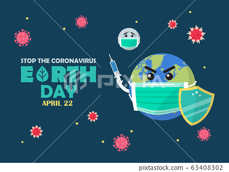 Earth Day Stop the Coronavirus Concept Banner 63408302