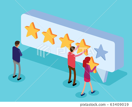 Clients choosing satisfaction rating and leaving 63409019