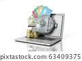 The concept of a secure online banking Money and 63409375