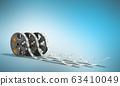 Diode strip Led lights tape in holder close-up 3d 63410049