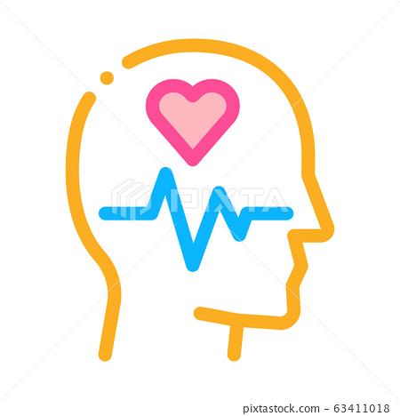 Effect on Brain Icon Vector Outline Illustration 63411018